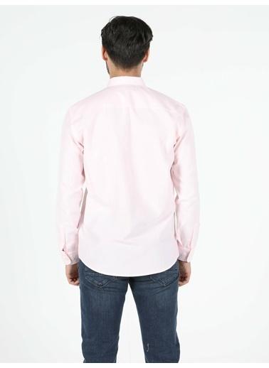 Colin's Regular Fit Shirt Neck Erkek Pembe Uzun Kol Gömlek Pembe